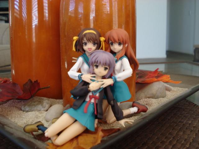 Haruhi, Mikuru and Nagato