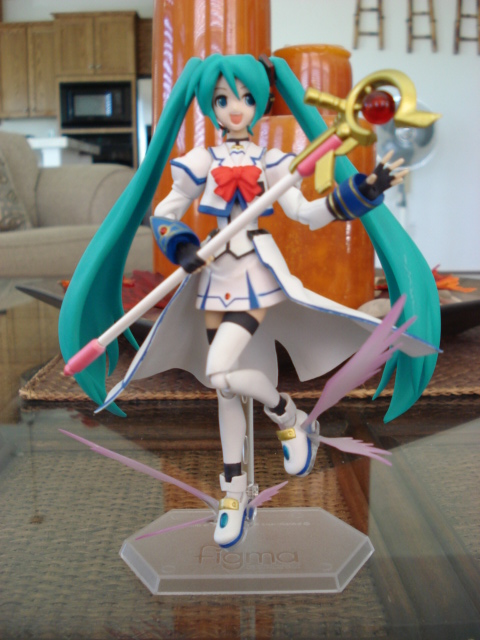 Miku wearing Nanoha's Barrier Jacket